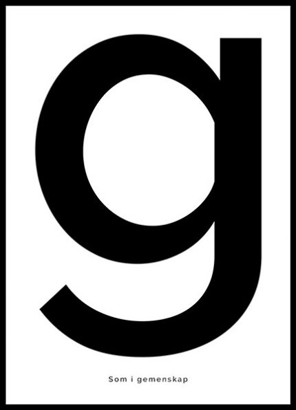 Poster G - som i gemenskap