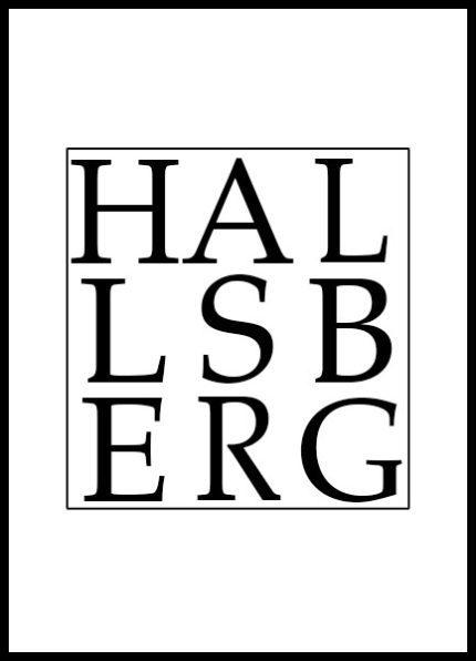Grafisk Poster Hallsberg