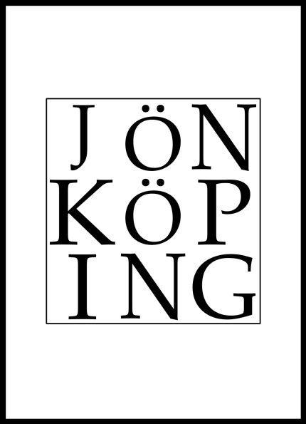 Grafisk Poster Jönköping