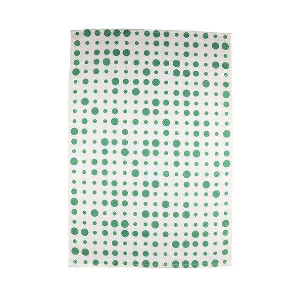 Kökshandduk Prickar Grön