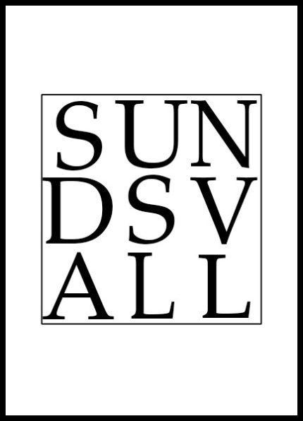 Grafisk Poster Sundsvall