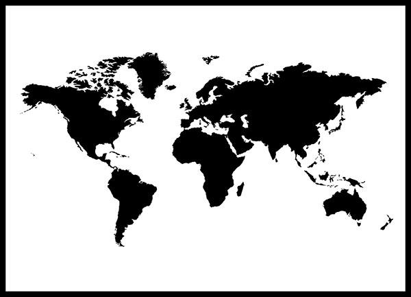 Grafiskt posters poster v rldskarta vector hugodesign for Mappa mondo bianco e nero